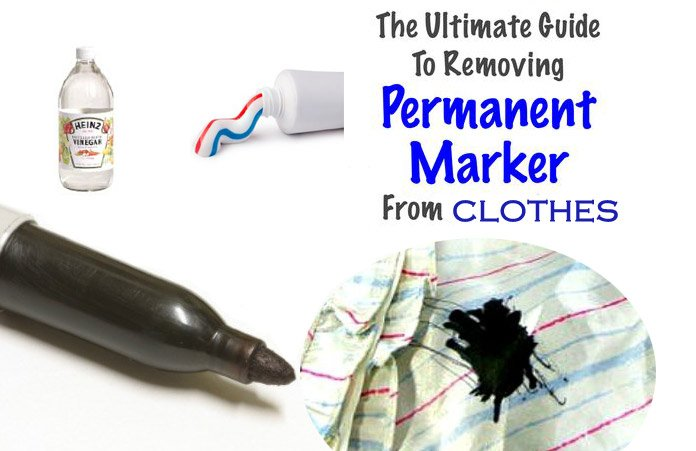 10 Effective Ways To Remove Permanent Marker Stain From