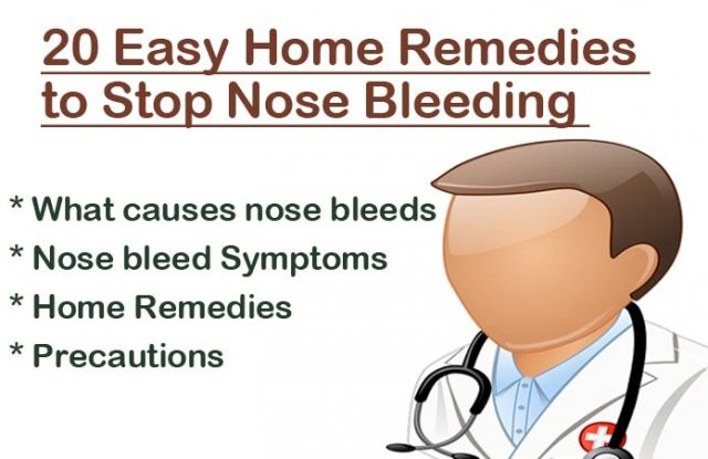 Home Remedies to Stop Nose Bleeding